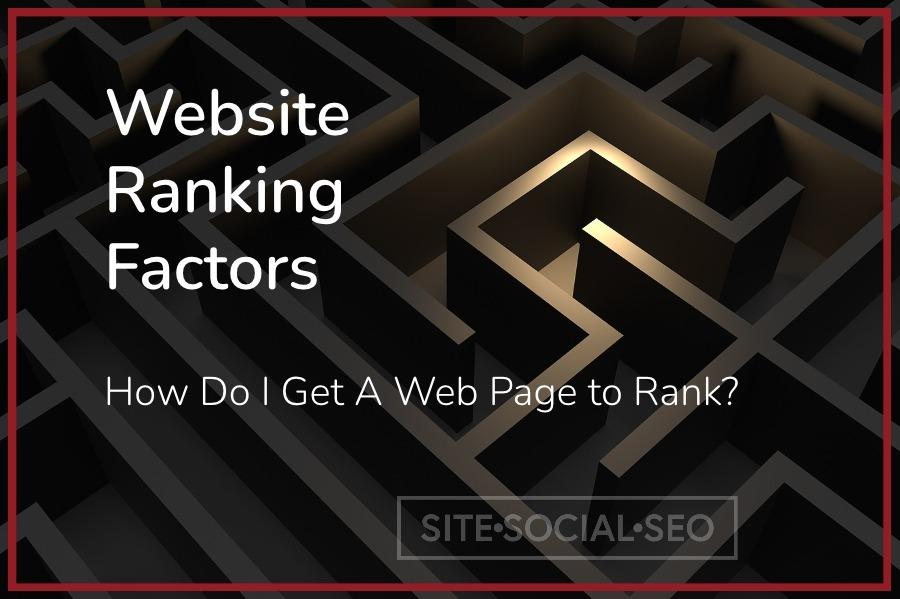 How Do I Get A Web Page to Rank - Site Social SEO